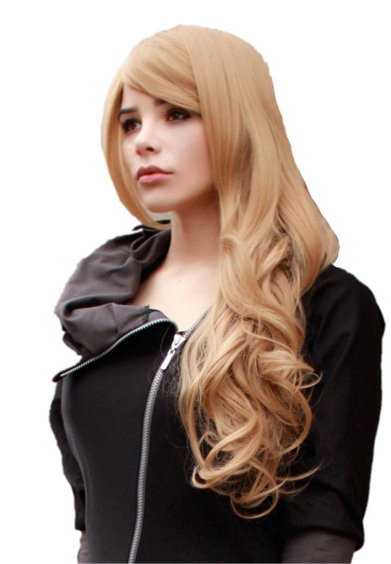 Cosplayland C507 - dunkel Leinen Blond 70cm lang Perücke mit sanften Wellen in den Spitzen B008L559M0 Perücken & Haarteile für Erwachsene Primäre Qualität |