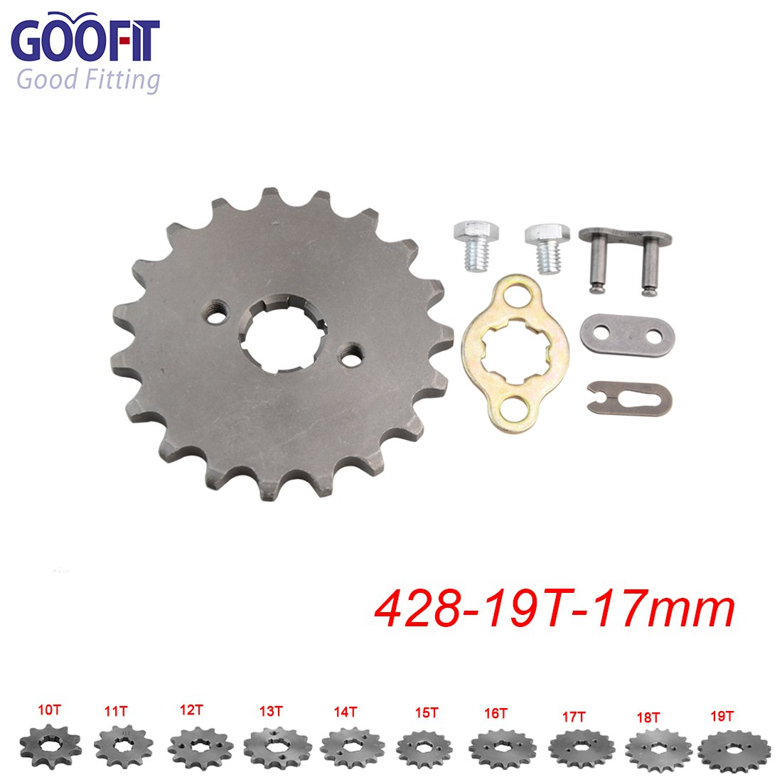 GOOFIT 420 13 17mm Tooth Front Engine motorcycle Sprocket Chain Retainer Plate LockerEngine For 50cc 70cc 90cc 110cc Motorcycle Dirt Bike ATV Quad