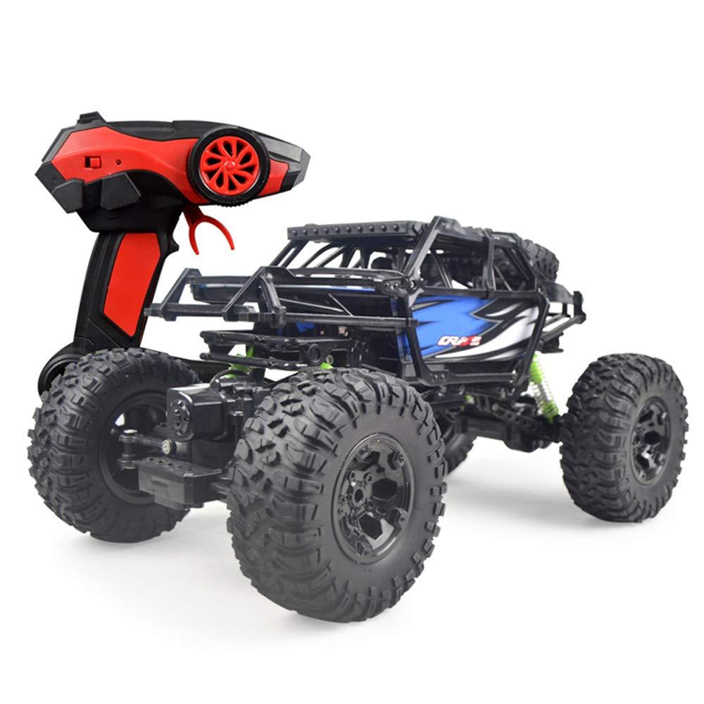 Pinjeer 防水1:10特大ワイヤレスリモコンカー四輪駆動オフロード車充電高速ボーイ水陸両用おもちゃギフト3 + (Color : Red, サイズ : 3-Battery) B07R21XWT7 Blue 1-Battery 1-Battery|Blue