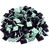 eBoot 100 Pieces Adhesive Cable Clips Wire Clips