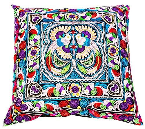 Lofbaz Hmong Pillowcase Peacock Pink One Size by Lofbaz