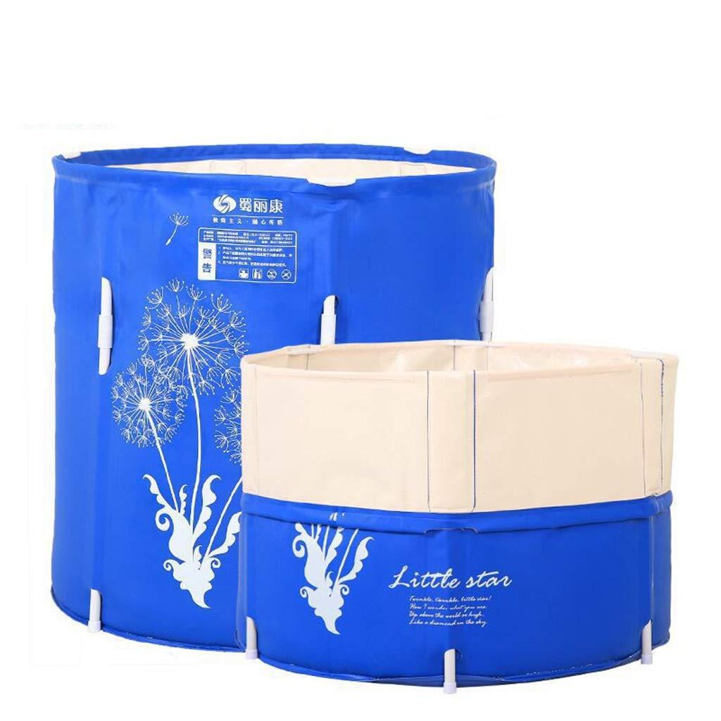 TONG YUE SHOP Adult Bath Barrel Household Plastic Folding Bath Barrel Insulation Thickening Bath Tub Portable Bathtub For Baby