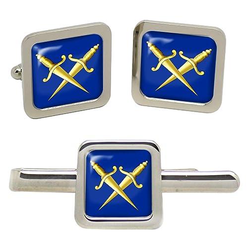 Protección interior Masónica hombres-gemelos y corbata aguja en Set de alfiler de corbata shdt: Amazon.es: Joyería
