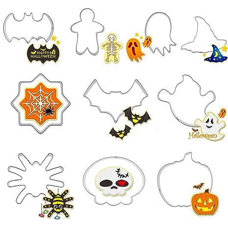 Amazon.com: Juego de cortadores de galletas para Halloween ...