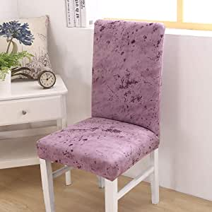 SHANYT Chair Cover 1/2/4/6 Pieces Floral Print Dining Chair Covers Elastic Removable Hotel Banquet Anti-Slip Covers Fundas para Sillas De Comedor-7,2Pcs Chair Covers