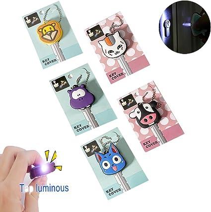 Amazon.com: Comidox - Llavero de 5 piezas, diseño de gato ...