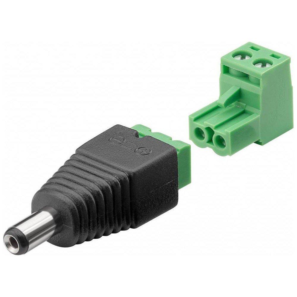 Terminal Block 2-pin > conector de CC (5, 50 x 2, 10 mm) 50x 2 10mm) Wentronic IADAP TB2-DC5521MR