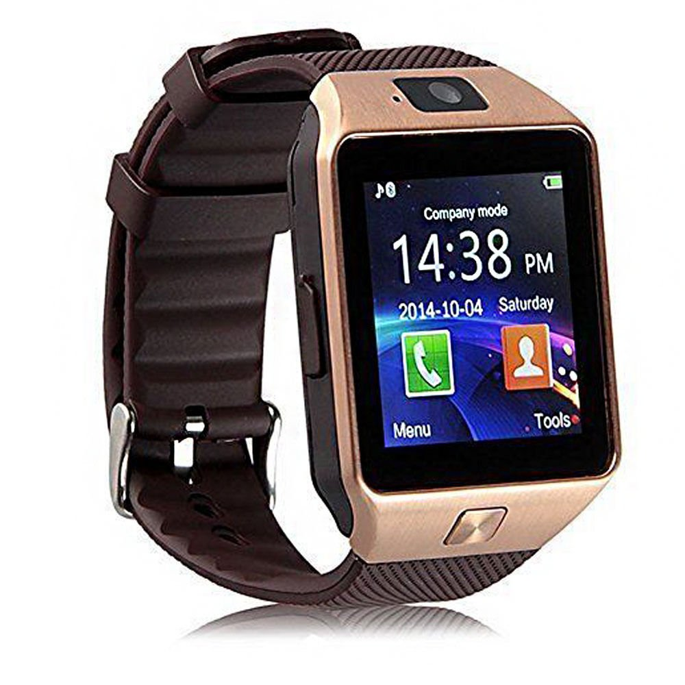 EasySMX DZ09 Bluetooth Smart Watch Phone Smartwatch Wristwatch with 2.0MP Camera for Samsung HTC Huawei Xiaomi Android Smartphones (Silver), ...