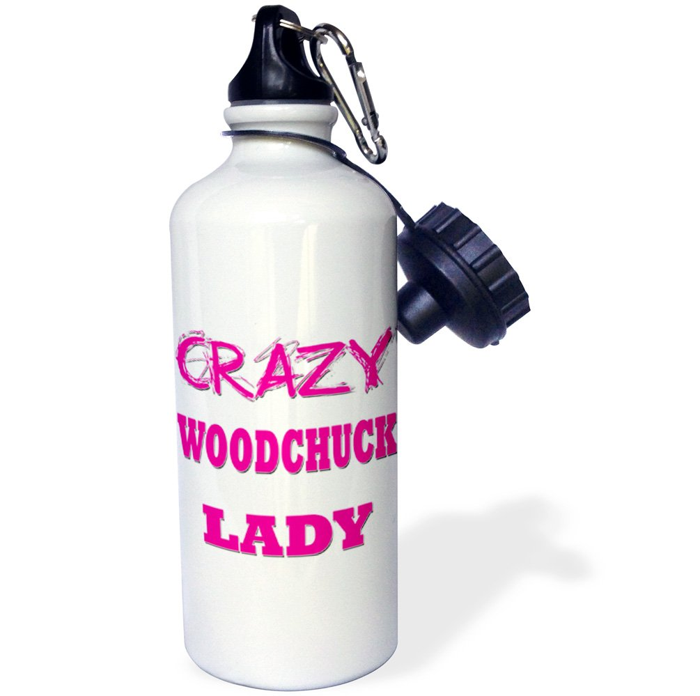 21 oz Multicolored 3dRose Crazy Woodchuck Lady-Sports Water Bottle 21oz wb/_175344/_1