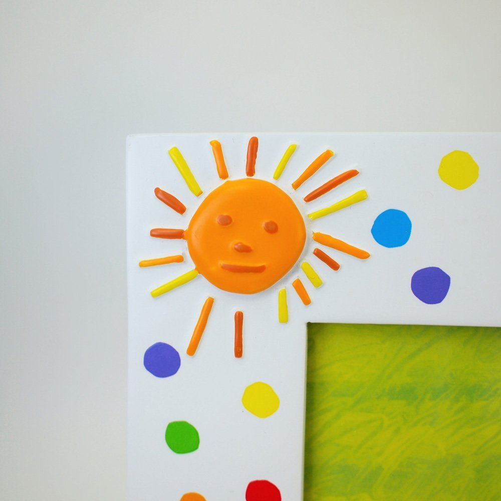 Roman 8 Inch Tall 4 X 6 White Photo Frame with Polka Dots Featuring A Caterpillar From The World of Eric Carle