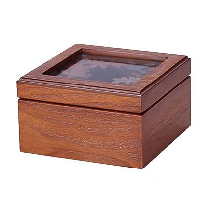 NAN Caja de joyería de madera retro caja de joyas Caja de joyería de mano antigua