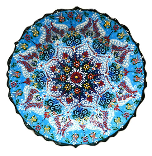 Turkish Ceramics~Hand Painted Ceramic Plate~Blue12inch/30cm