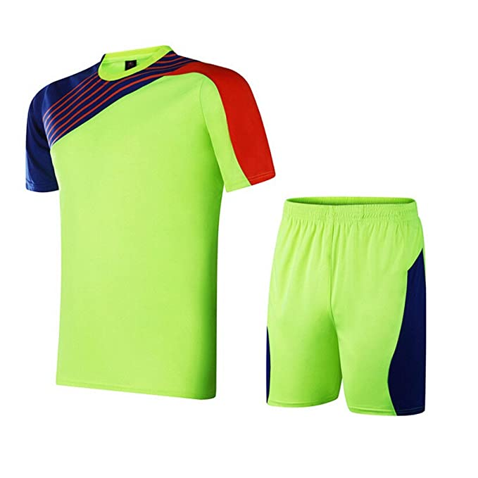 buy popular b9b78 c2da5 Amazon.com: None Mens Blank Soccer Jersey Kits Football ...