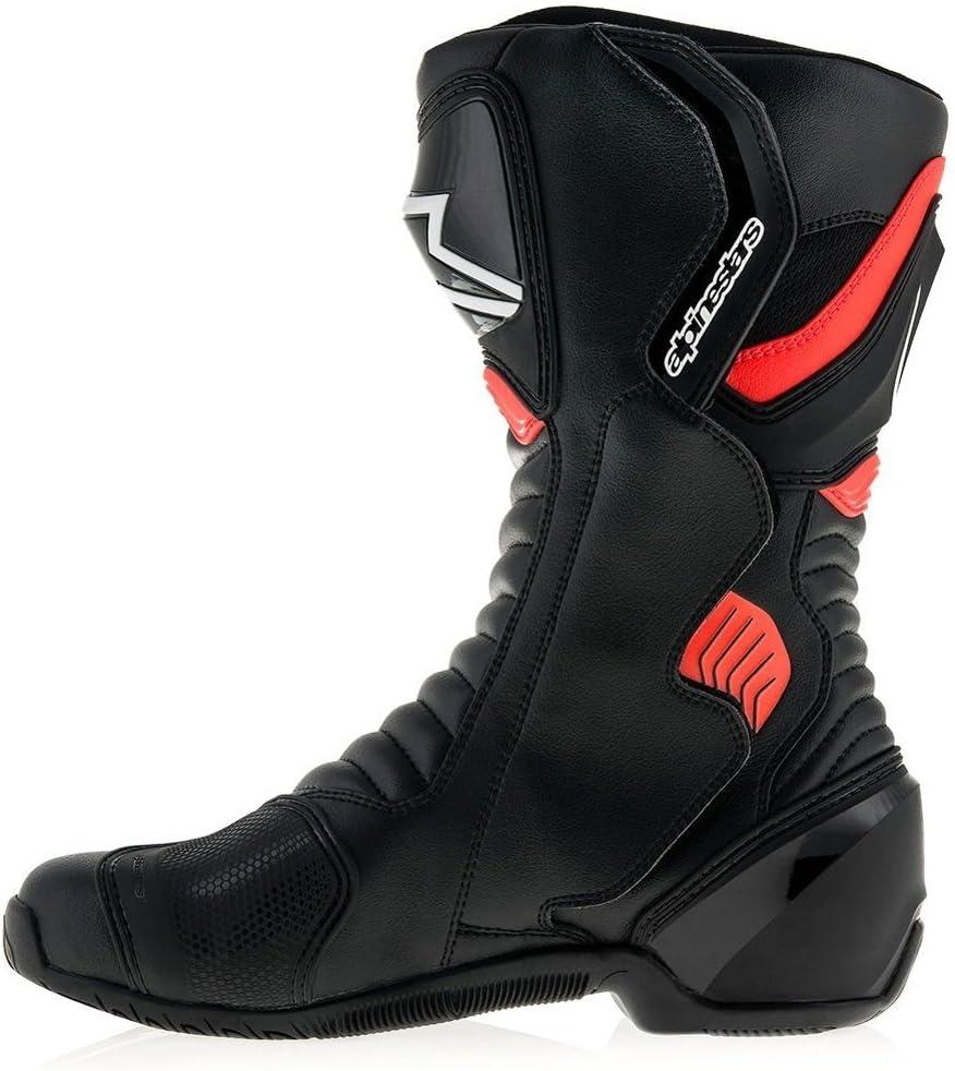 Black 45 Alpinestars Mens SMX-6 V2 Drystar Street Motorcycle Boot