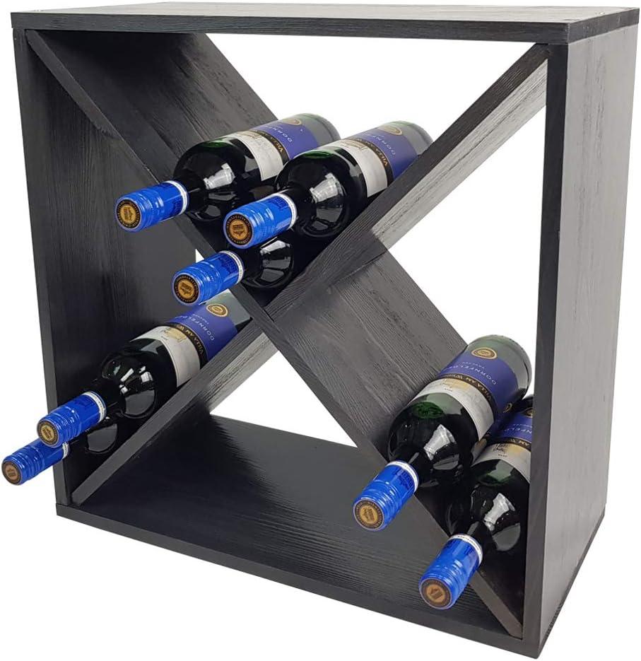 Couleur:Anthracite DILUMA Casier /à vin Bacchus en Forme de X /Étag/ère /à Bouteilles pour 24 Bouteilles Casier /à Bouteilles de vin de 52 x 52 x 25 cm