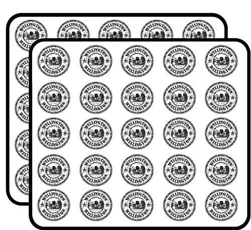 Wellington City New Zealand Grunge Travel Sticker for Scrapbooking, Calendars, Arts, Kids DIY Crafts, Album, Bullet Journals 50 Pack -