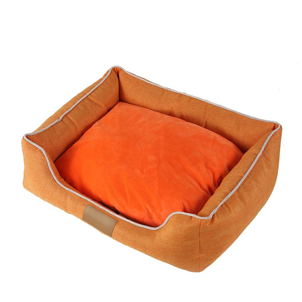 55458cm LSS Pet Bed Rectangular Cat Dog Mat Puppy Warm Cushion Oxford Cloth With Removable Cushion Winter (Size   55  45  8cm)