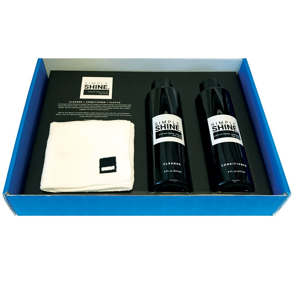 Premium Leather Shoe Cleaner and Conditioner Cleaning Kit | Cloths for Restore, Protect and Care by Simple Shine (Image #7)
