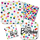 French Bull Birthday Dots- 3-Ply Luncheon