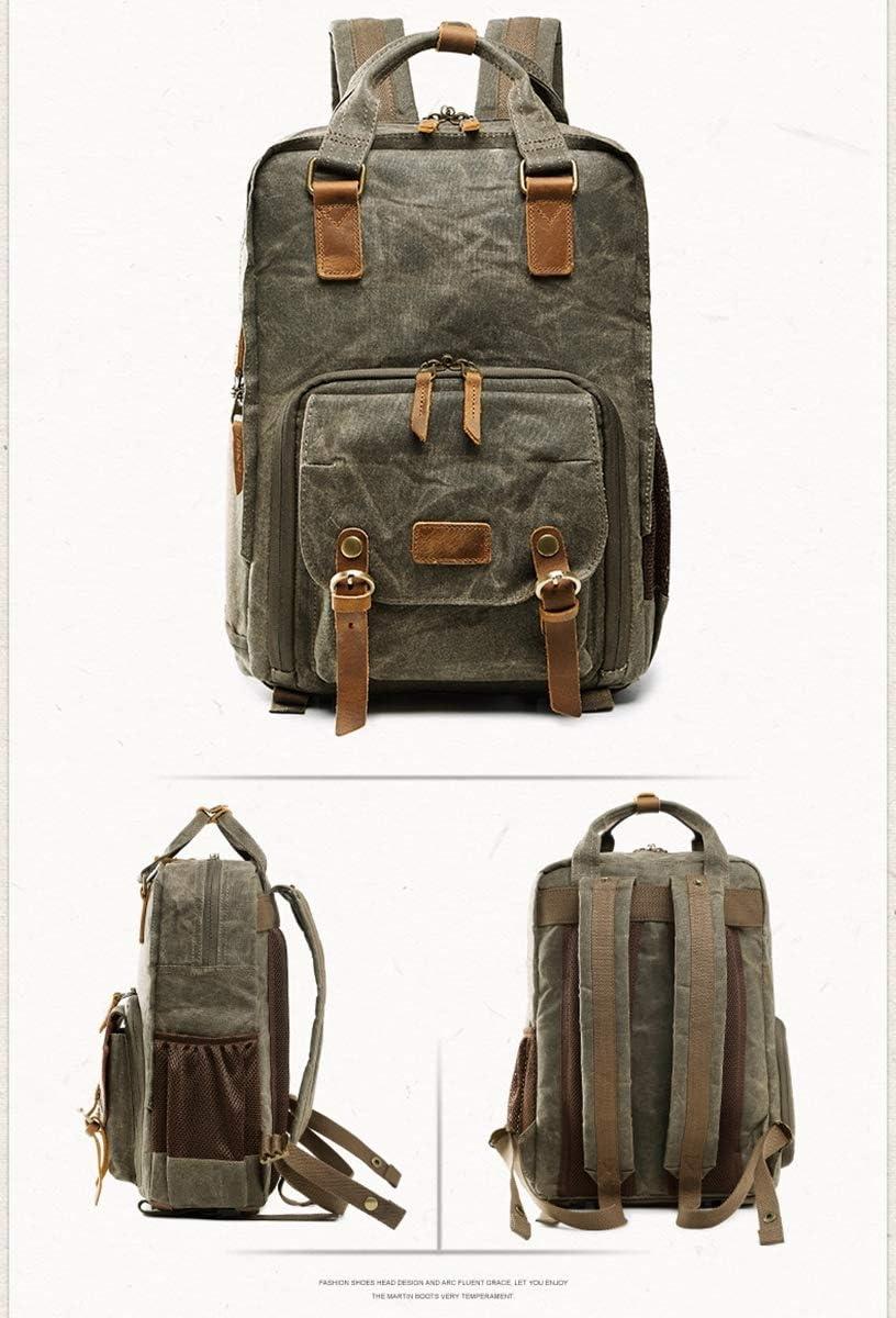 AHWZ Camera Bag SLR Camera Backpack Camera Bag Insert Batik Waterproof Canvas Box Laptop Backpack