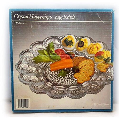 Vintage Crystal Happenings Egg Relish Tray No.