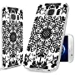 S7 Case,Galaxy S7 Case, ChiChiC [Elegant Series] Full Protective Case Slim Flexible Soft TPU Gel Rubber Cases Cover Skin for Samsung Galaxy S7,geometric Black white classical floral pattern