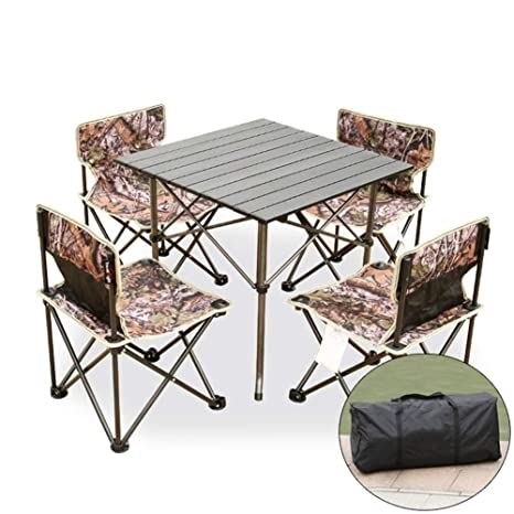 MDBYMX Mesa de Camping Plegable Mesa y sillas Plegables al ...