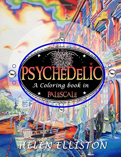 Download Psychedelic - Palescale adult coloring book: New coloring style! 21 images. Accentuate the colors! (interior art printed in paled color to guide you!) ebook