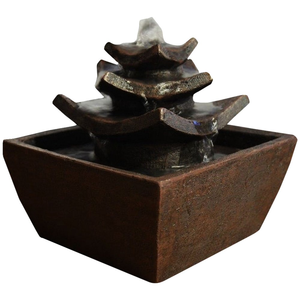 Zen Luce Tempio Interni Fontaine Moro 16, 5 x 16, 5 x 15, 5 cm Zen' Light TEMPLE