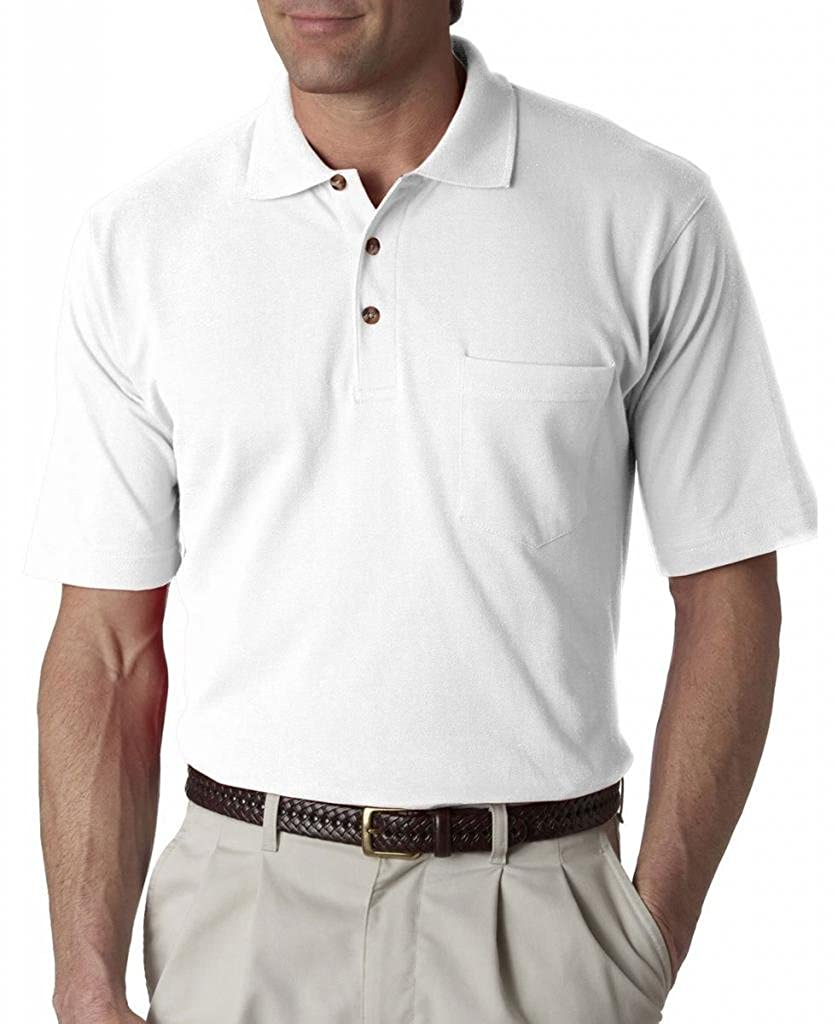 ULTRACLUB 8534 UltraClub/Â/® Adult Classic Pique Polo with Pocket 8534