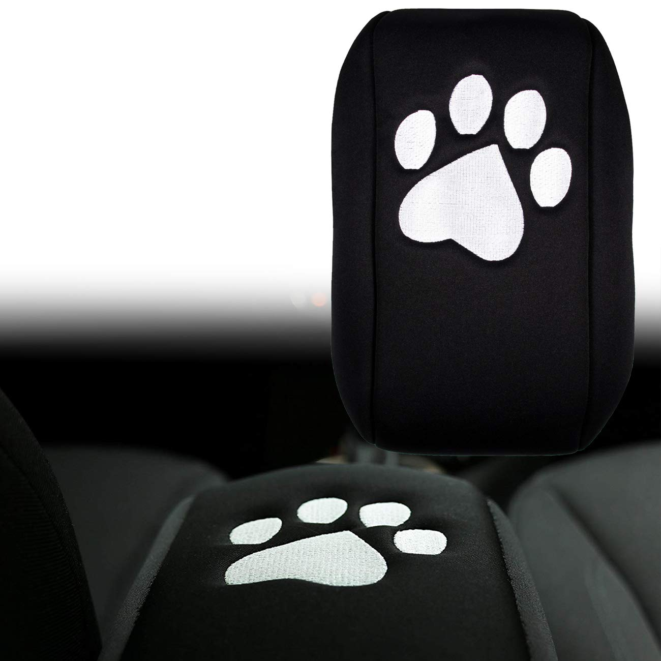 Yoursme Neoprene Center Console Armrest Pad Cover Black Dog Paw Protector Cushion for Jeep Grand Cherokee 2010 2011 2012 2013 2014 2015 2016