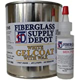 White Gelcoat with Wax - Pint with 15cc Hardener (MEKP)