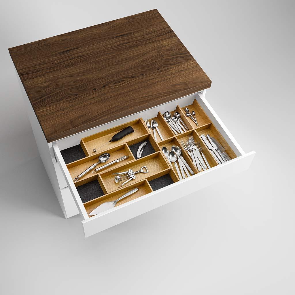 Esche schwarz//Besteckkasten-Set Holz Modify Besteckeinsatz Set 800//900
