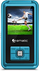 """Ematic MP3 Video Player - 8GB, Video, Music, Photos, FM Tuner, Voice Recorder, 1.5"""" Screen"""