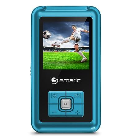 Ematic 8 GB 1.5 Inch Colorscreen MP3 Video Player with FM Tuner   Blue  EM208VIDBU  MP3/MP4 Players
