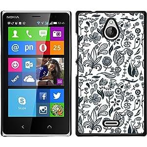 Print Motif Coque de protection Case Cover // V00002468 sin patrón floral // Nokia X2