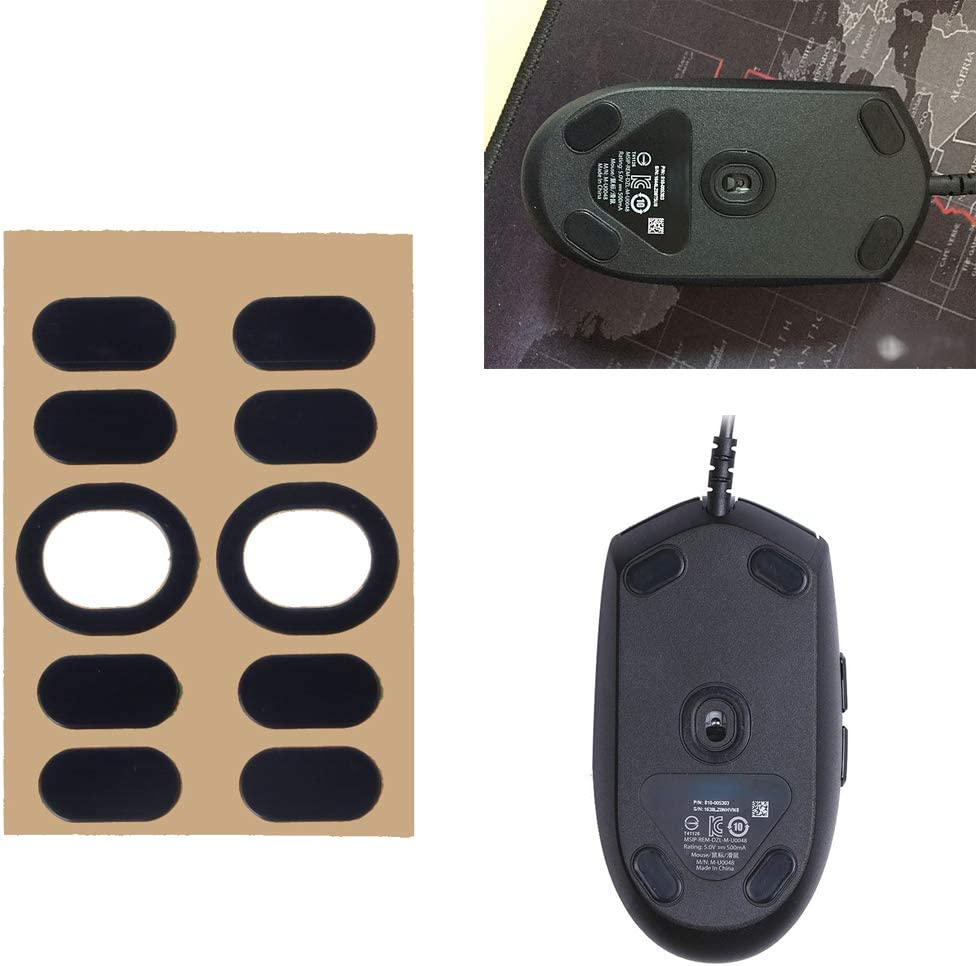 mengersty 2 Sets//Pack Original Hotline Games Competition Level Mouse Feet Mouse Skates Gildes for Logitech G102 G PRO Wired Mouse 0.6mm Thickness Teflon