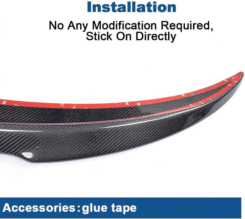 GQF Suitable For Mercedes C Class W205 C205 C180 C200 C250 C300 C400 C43 C63 Amg Coupe 2015-2018 Carbon Fiber Rear Trunk Boot Spoiler Wing Lid Bodykit Lip