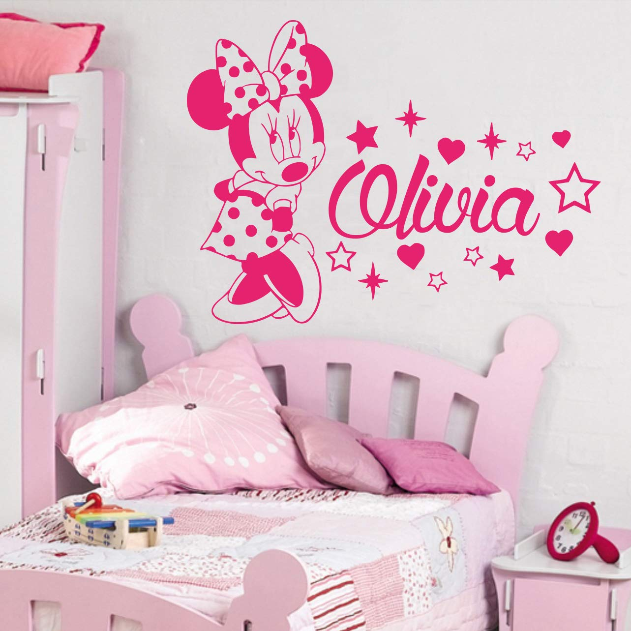 Amazon.com: Minnie Mouse Wall Decal Personalized Name/Baby ...