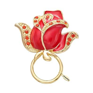 noumanda Big Rose Fleur Lunettes de soleil magnétique support magnétique porte lunettes en forme de broches pour Lover Valentines cadeau cTytb6n
