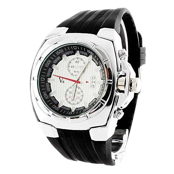 c2ecfb9717c3 BLACK MAMUT Reloj para Hombre Grande Diseño Deportivo Movimiento Cuarzo  Modelo Sprinter