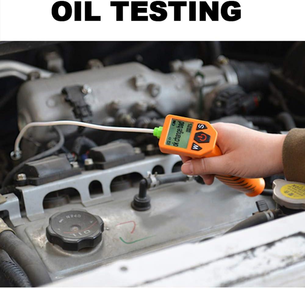 KKmoon Tester dellOlio Motore e Benzina per Motori Diesel 2 in 1 per Controllo Automatico Analizzatore Rilevatore di Qualit/à dellOlio con Display a LED Strumenti per Test su Auto