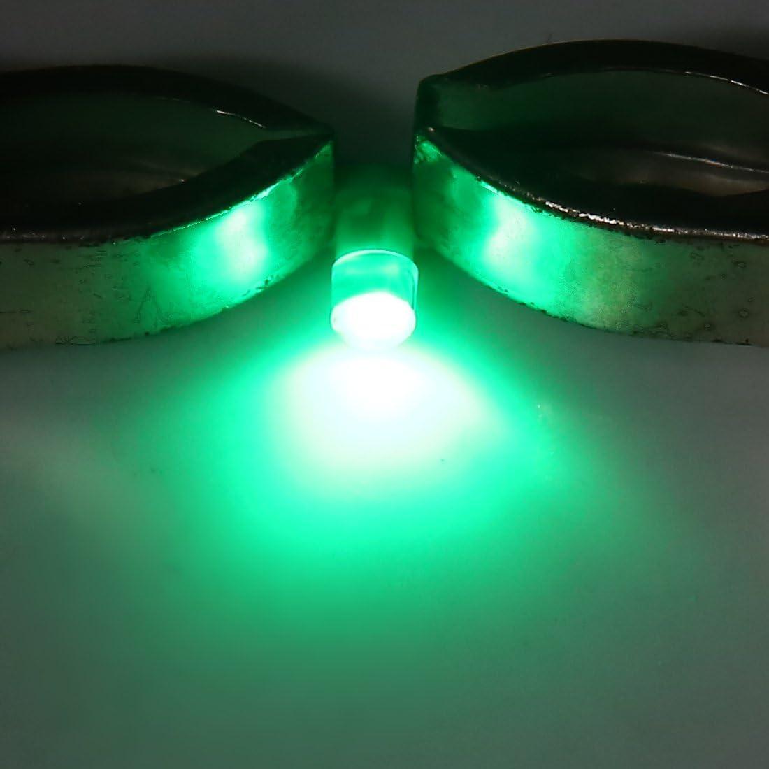 colore verde Sourcingmap 5 lampadine a LED per cruscotto auto 12 V T3