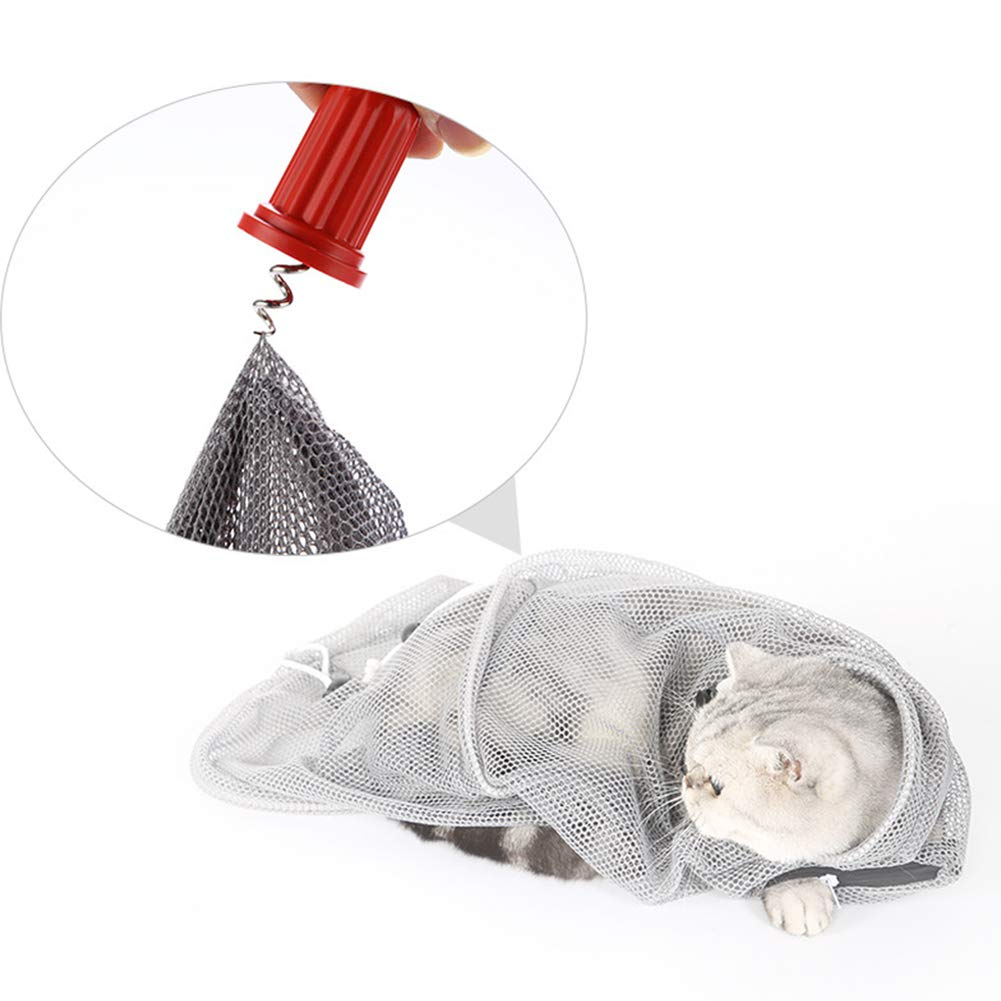 Pet Cat Grooming Washing Bath Bag Head Bag + Body Bag for Bathing Nail Clipping Cleaning Catch bite Multi-Function Wash The cat Bag