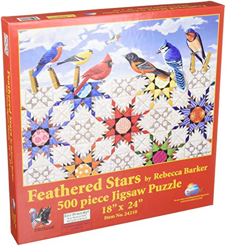 SunsOut Puzzle Feathered Stars-500pc
