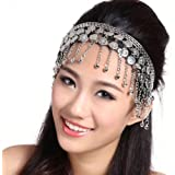 Tribal Belly Dance Headpiece Headwear Metal Coins Tiara Ethnic Gipsy