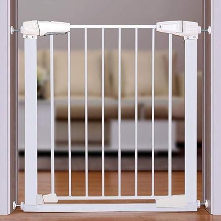 KSWD Barrera de Seguridad para Niños Perros, a Presion Bebé Puerta de la Escalera Alta sin Taladro Metal Blanco,L: Amazon.es: Hogar