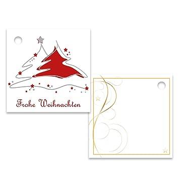 """25er Pack Geschenkanhänger /""""Frohe Weihnachten/"""" Stern ca 55 x 55 mm"""