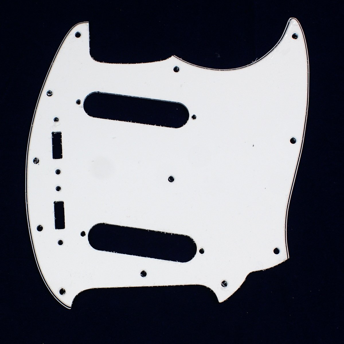 3 Ply Guitar Pickguard Fits Fender Mustang Classic Series - WHITE (A64)