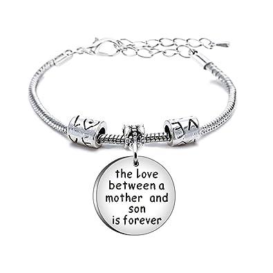 TOOKY Heart Love Round Pendant Charm Bracelet Gift for Family eAxIYM
